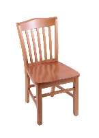 beech chair w/wood seat