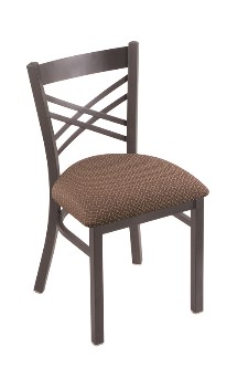 "Catalina 18"" dining chair shown in pewter, axsWil seat"
