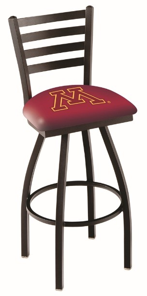 metal swivel seat stool with college logo