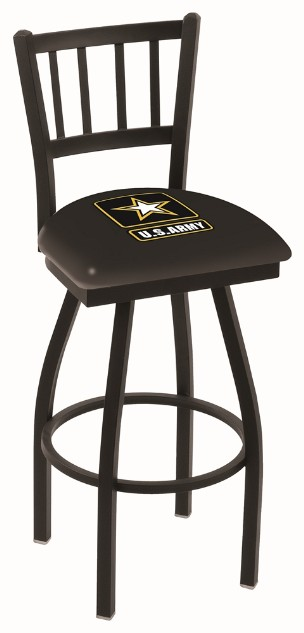 Metal swivel seat bar stool with logo