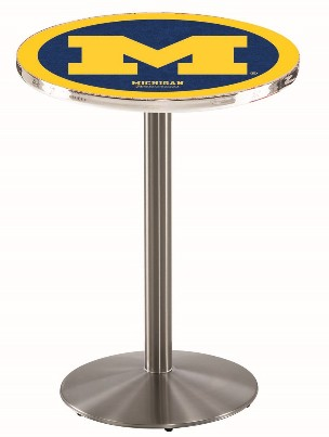 "28"" or 36"" logo pub table, Stainless, 36"" or 42"" high"