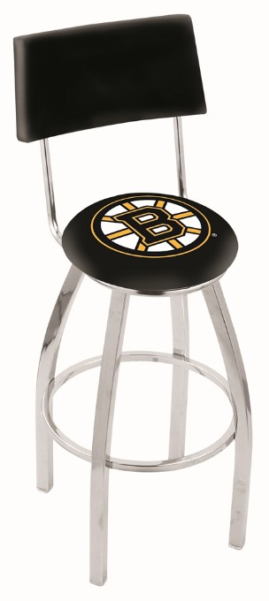 metal swivel seat bar stool with NHL logo