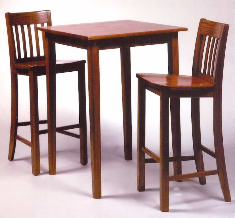 ... Oak Square Pub Tables Quality Bar Stools Counter Stools Pub Solid Oak Square  Pub Table Shown ...